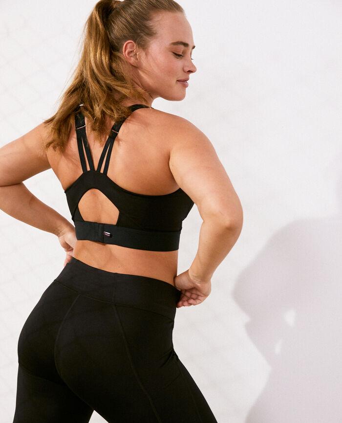 Sports bra high support Black Run