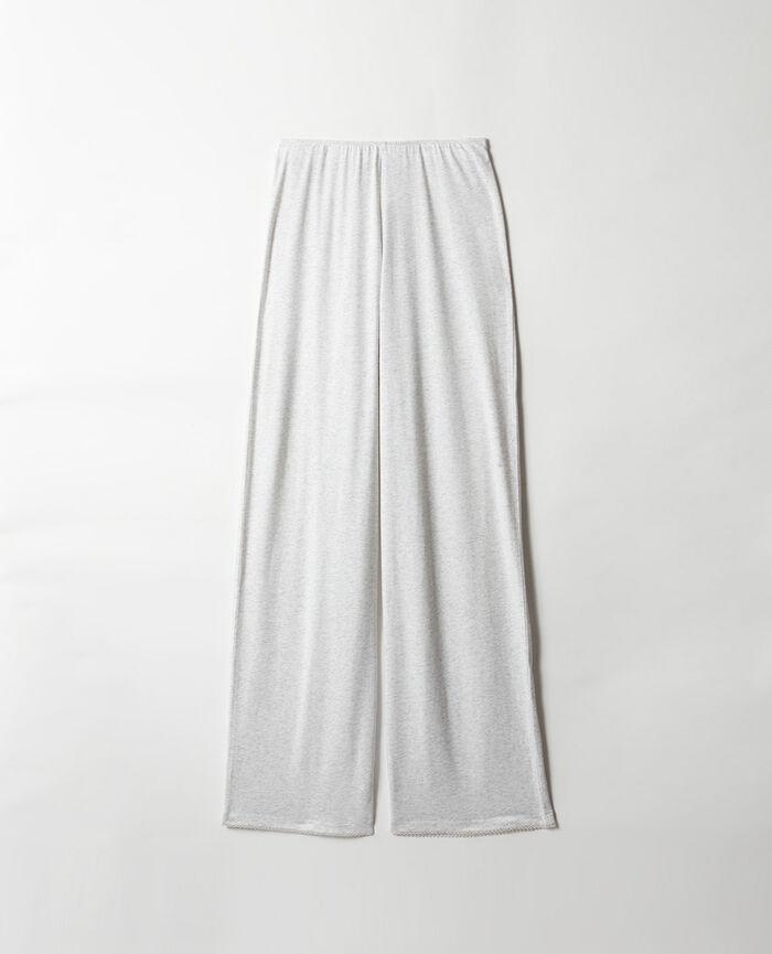 Pantalon Blanc nacré chiné Bonne nuit