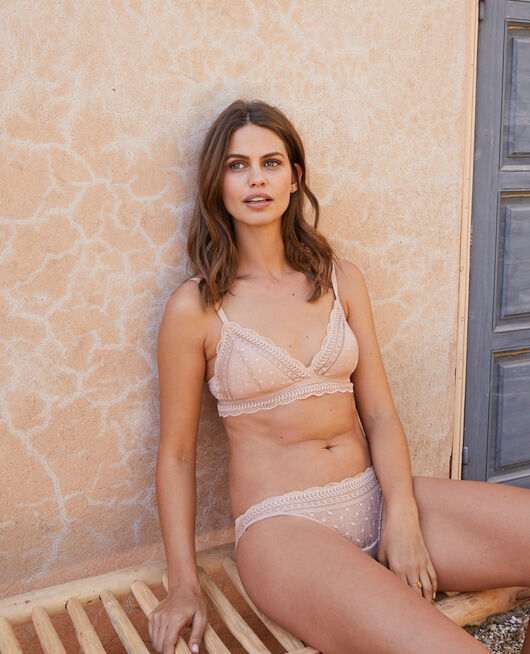 Culotte taille basse Beige lin Duo