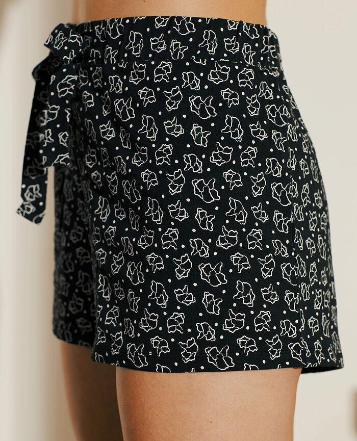 Short de pyjama Pétale noir Echo