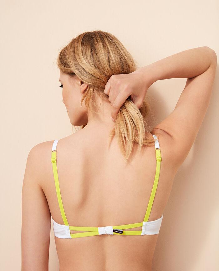 Padded push-up bra White Coton