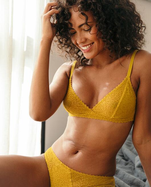 Soft cup bra Absinthe yellow Velvet