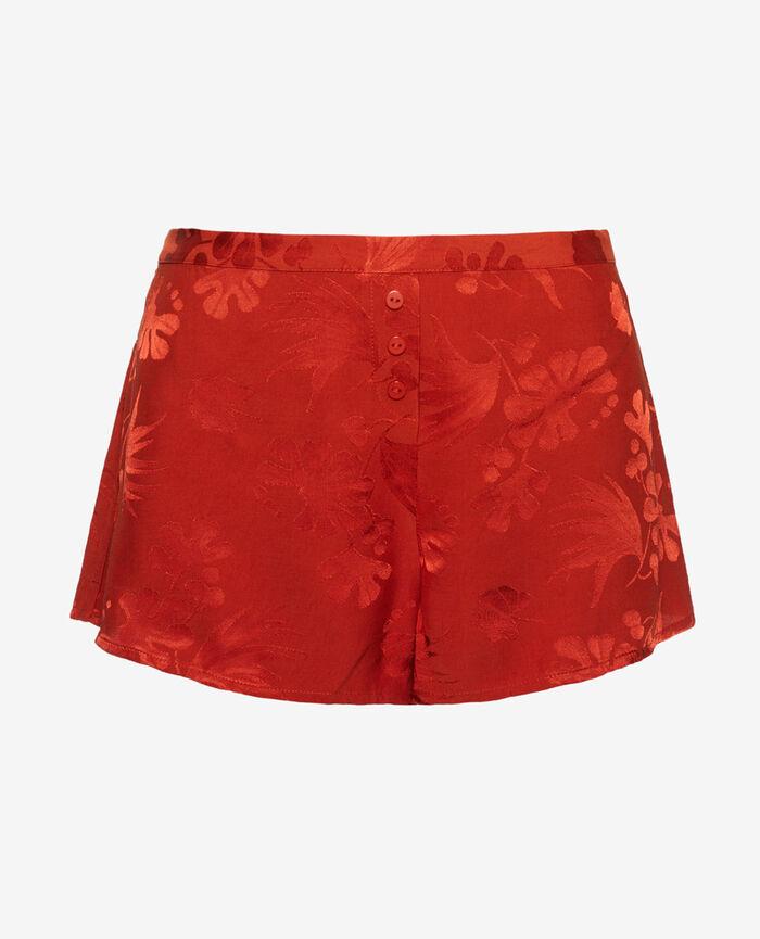 Pyjama shorts Terra cotta Menara