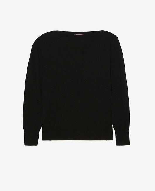 Boatneck jumper Black Cosy