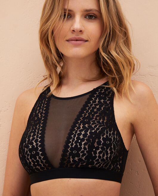 Soft bustier bra Black Monica