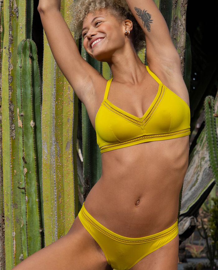 Soft cup bra Aniseed green Air lingerie