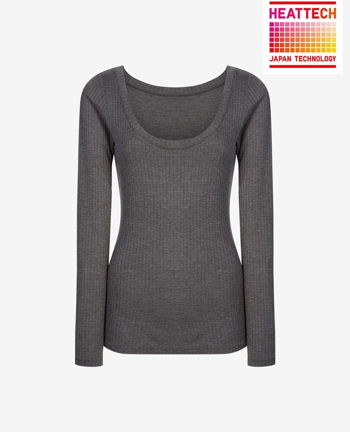 T-shirt manches longues Gris chiné Infinity