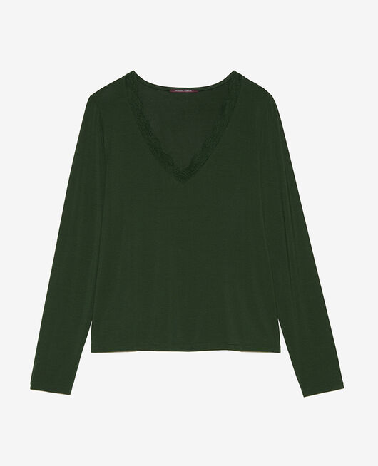 Long-sleeved t-shirt Cypress green Douceur