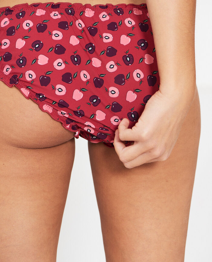 Ruffle brief Ruby red apple Take away