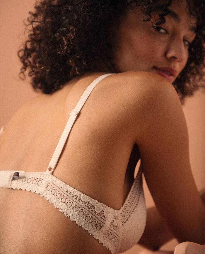 Soutien-gorge sans armatures padde Blanc rosé Evidence - le be cool