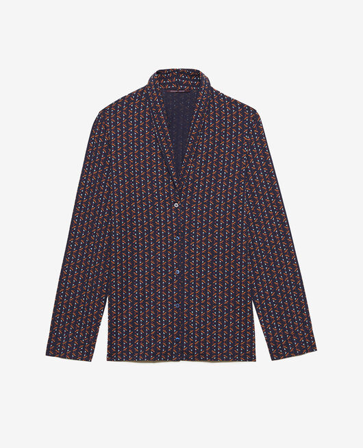Pyjama jacket Royal gingerbread Paresse print