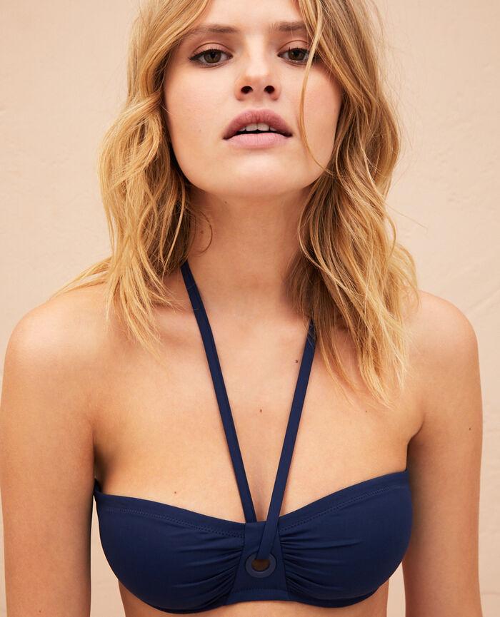 Strapless bikini top Midnight blue Impala