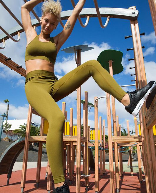 Brassière maintien léger Vert bowie Yoga
