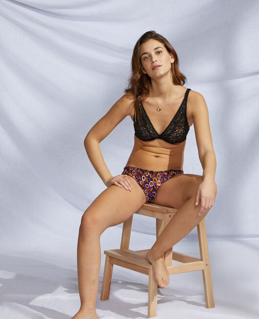 Culotte fantaisie Capucine noir Take away