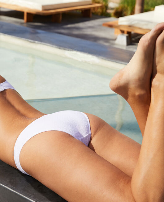 High-cut bikini briefs White Allure