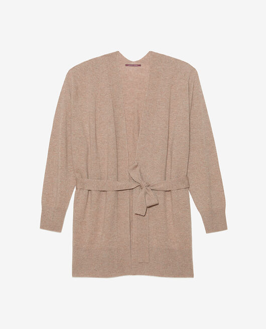 Cardigan manches longues Beige naturel Cosy