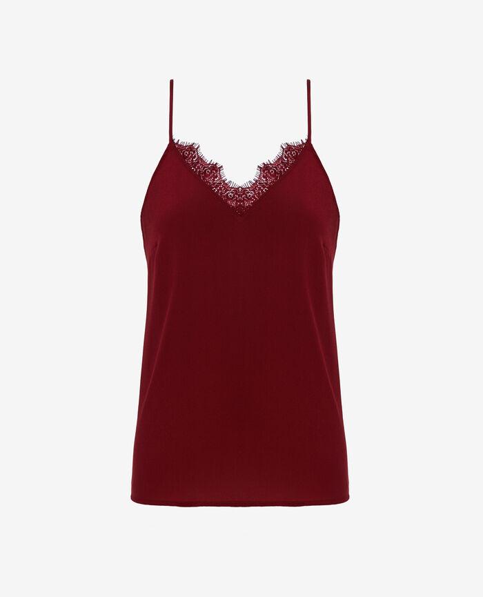 Caraco Rouge cuir Valentine