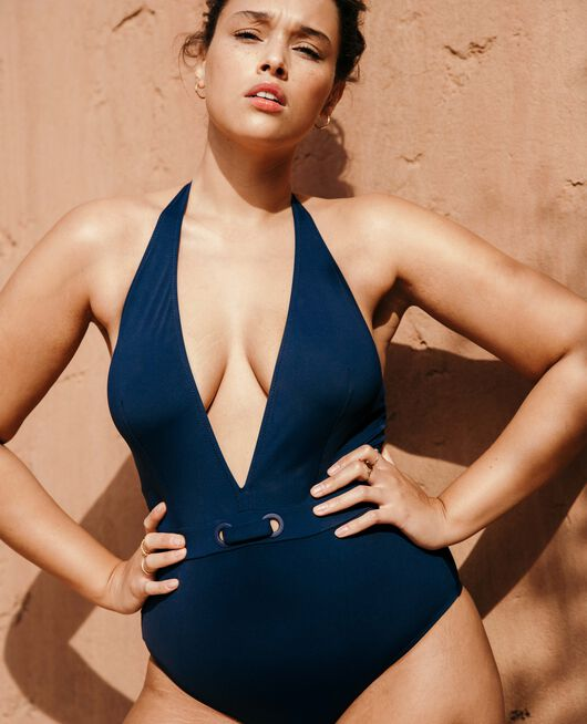 Swimsuit halterneck Midnight blue Impala