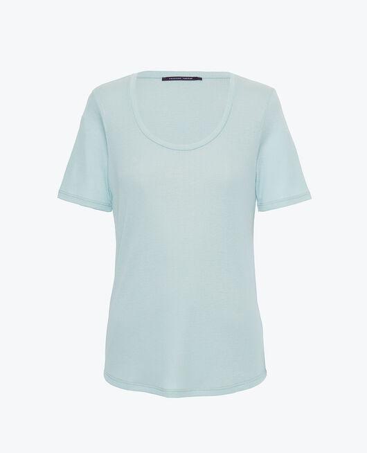T-shirt manches courtes Vert mosaïque Latte