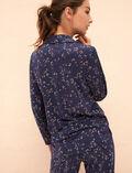 Veste de pyjama Automne bleu Latte