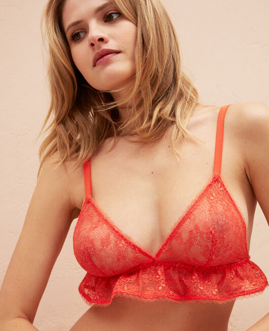 Soutien-gorge sans armatures Orange sanguine Nomade