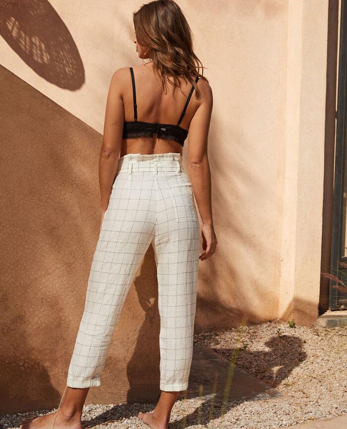 Pantalon Carreaux Chic lin