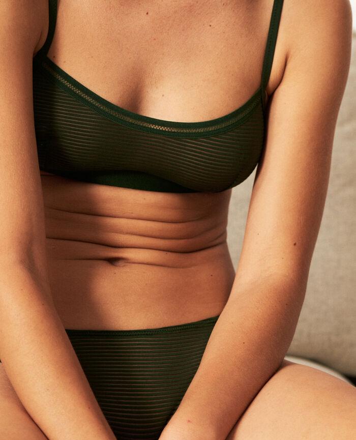 Soft cup bra Cypress green Horizon