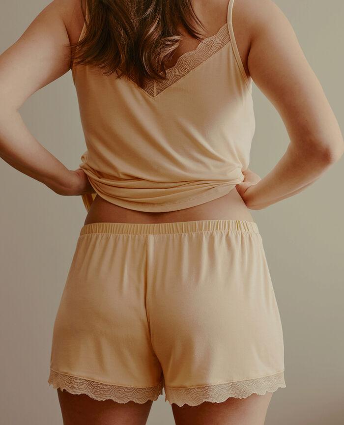 Short de pyjama Jaune vanille Douceur