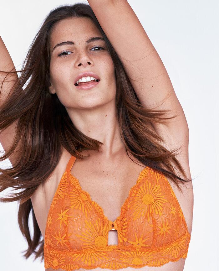 Soft cup bra Maya orange Soleil