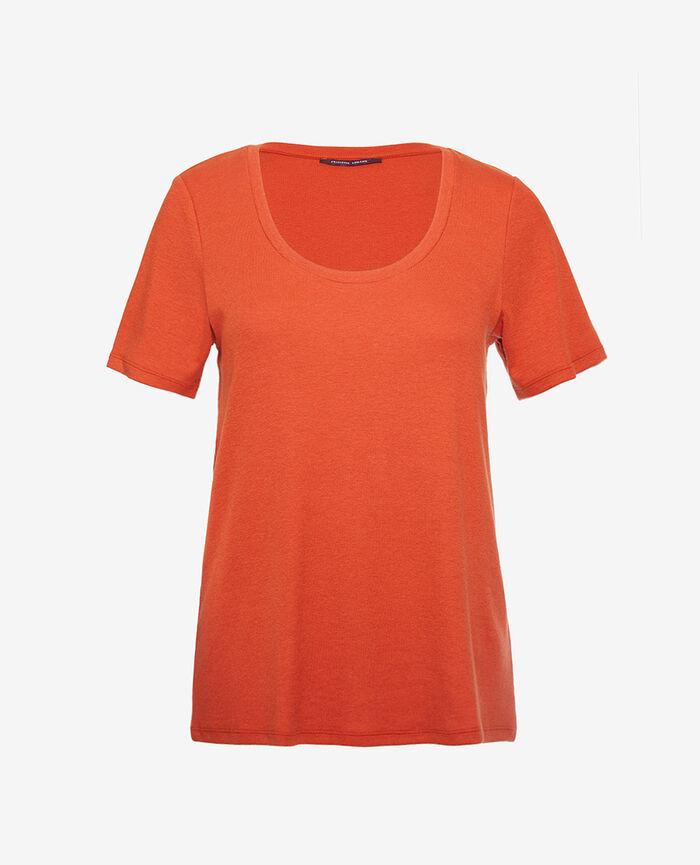 T-shirt manches courtes Brun cognac Dimanche