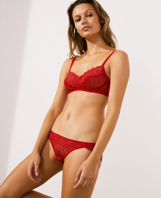 Culotte taille basse Rouge idole Amour