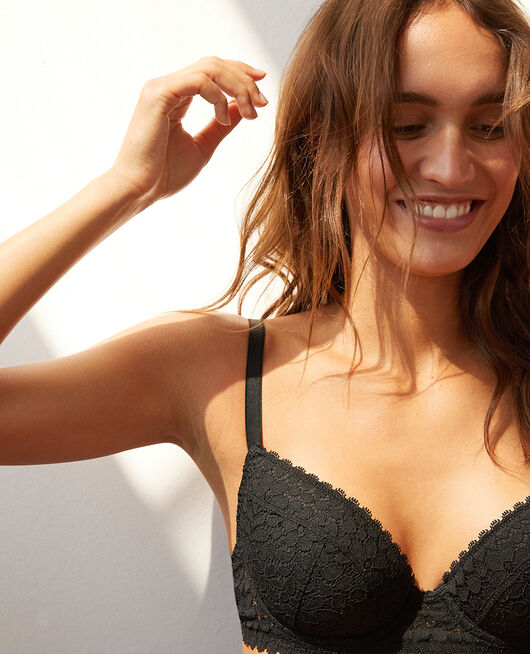 Padded push-up bra Black Monica