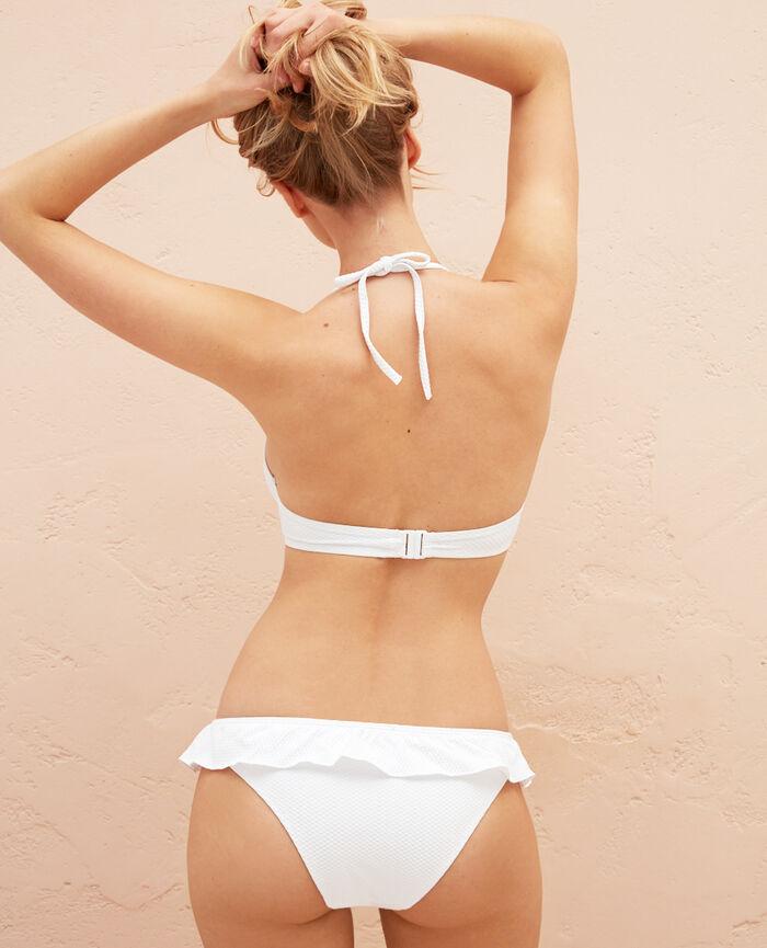 Maillot de bain triangle avec armatures Blanc Farah