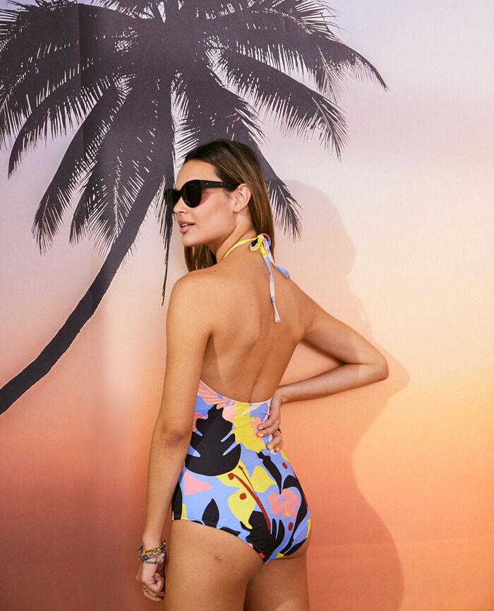 Swimsuit halterneck Maxi floral Vacanze