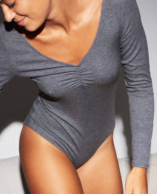 Body Anthracite grey Heattech© lovely