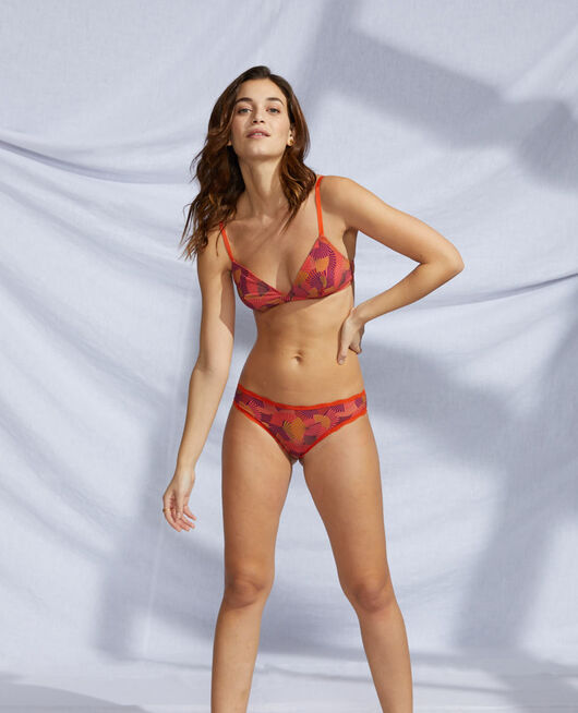 Soft cup bra Tangerine red fan Take away