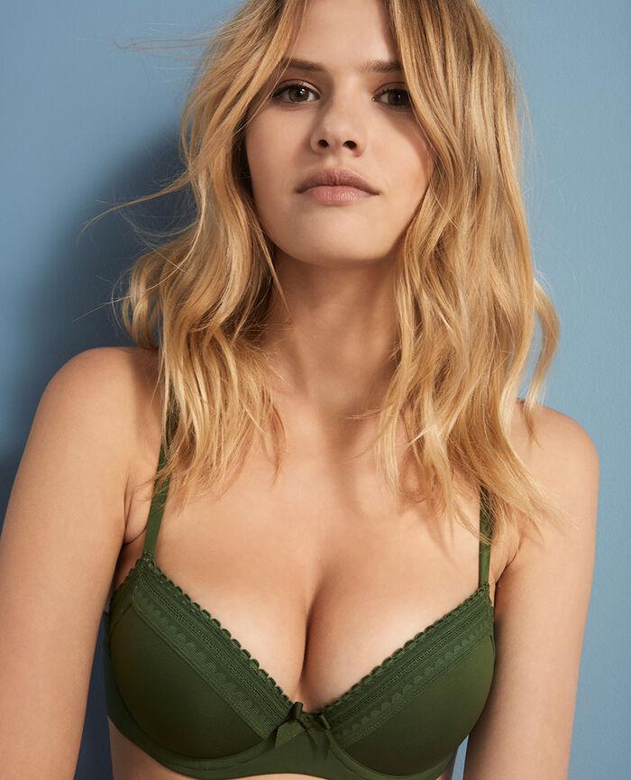 Progressive-cup push-up bra Agency green Beaute