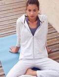 Veste de sport zipée Gris chiné Yoga