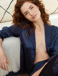 Pyjama jacket Dots blue Aurore