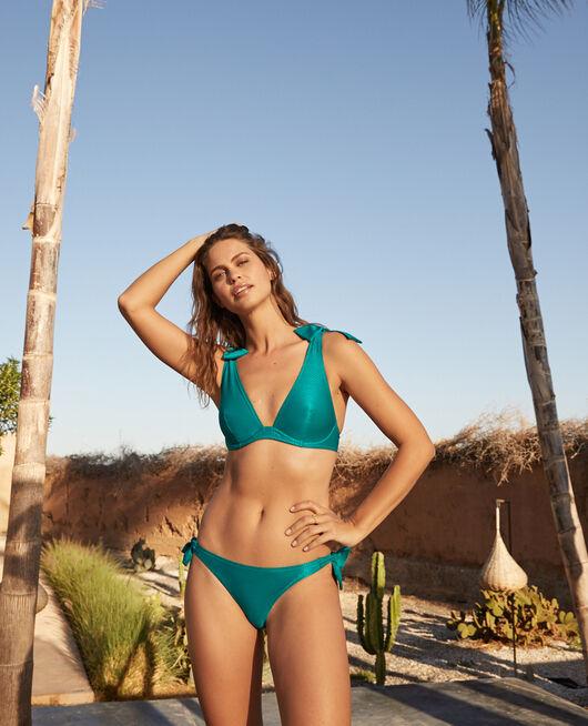 Underwired triangle bikini top Sea green Reve