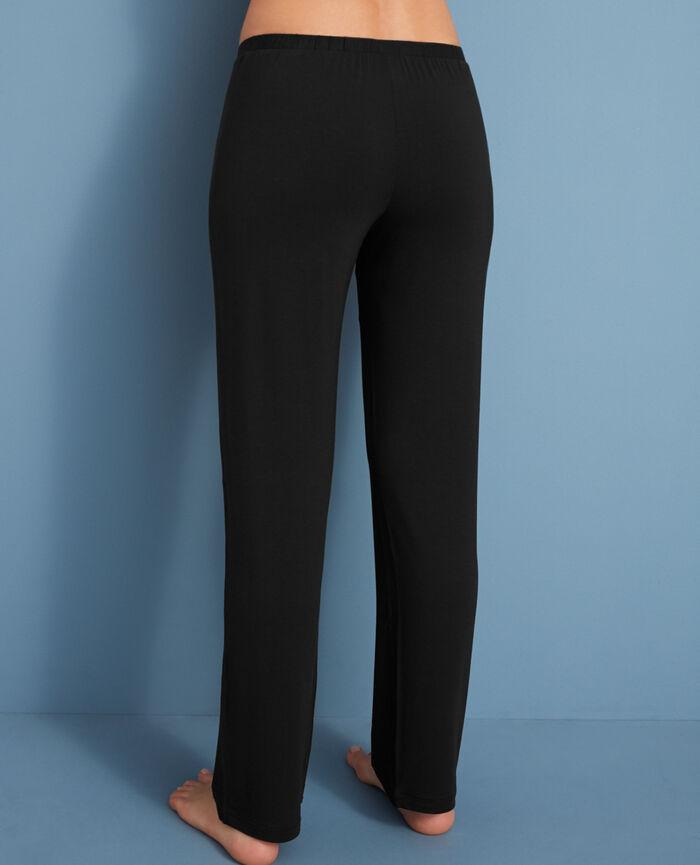 Pyjama trousers Black Flora