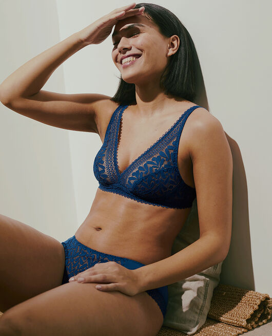 Wireless bra Deckchair blue Evidence