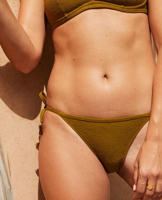 Culotte de bain bikini Vert bowie Pompon