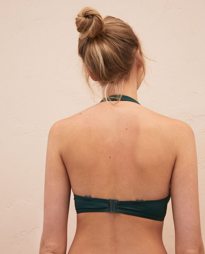 Underwired triangle bikini top Ceramic green Impala