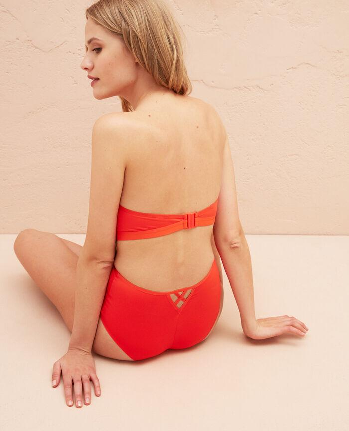 Strapless bikini top Blood orange Tiwizi