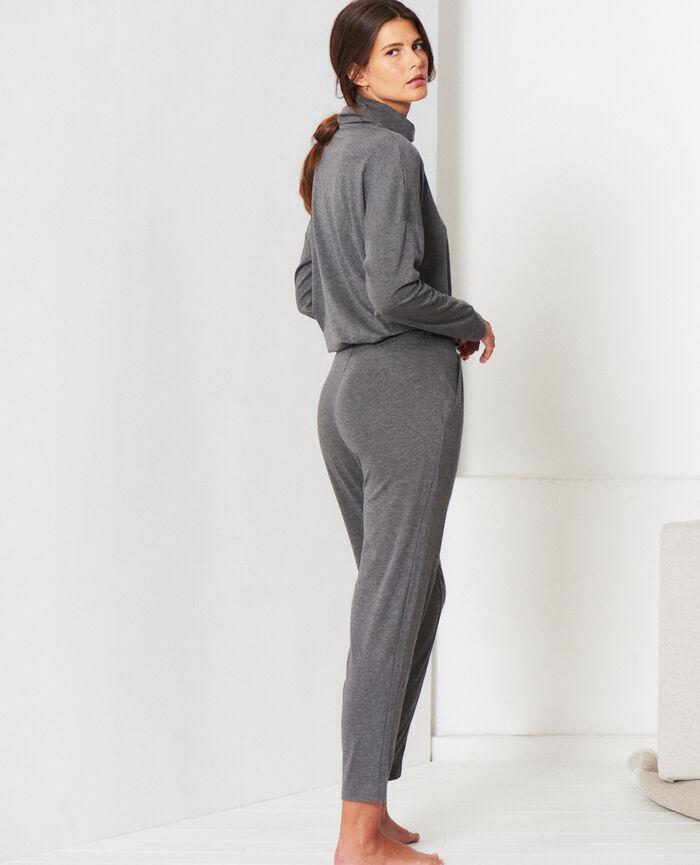 Pantalon carotte Gris chiné Heattech©  lounge