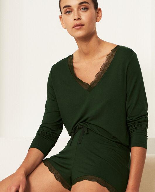 Pyjama shorts Cypress green Douceur