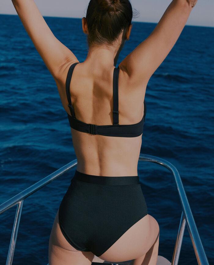 Culotte de bain taille haute Noir Impala