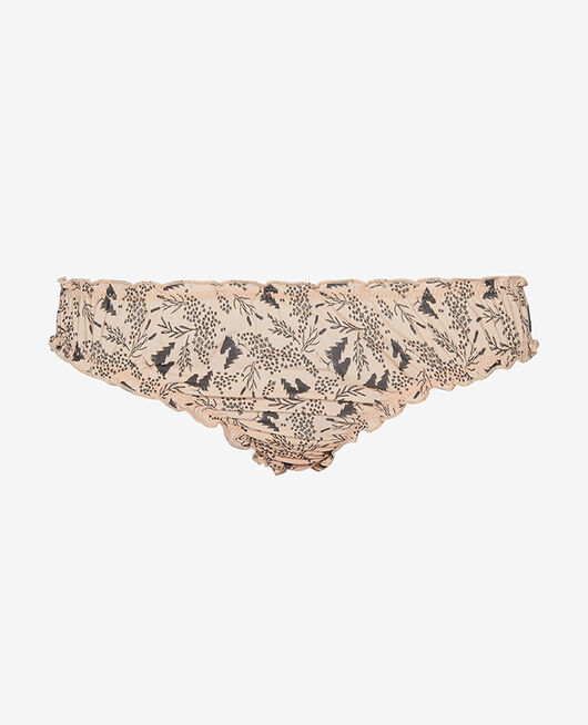 Ruffle brief Powder beige prairie Take away
