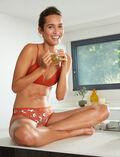 Culotte taille basse Yoga brun Take away